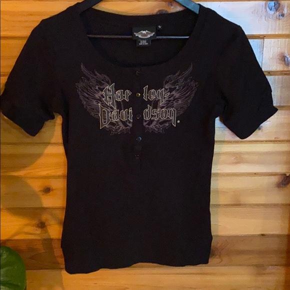 Harley Davidson button t-shirt